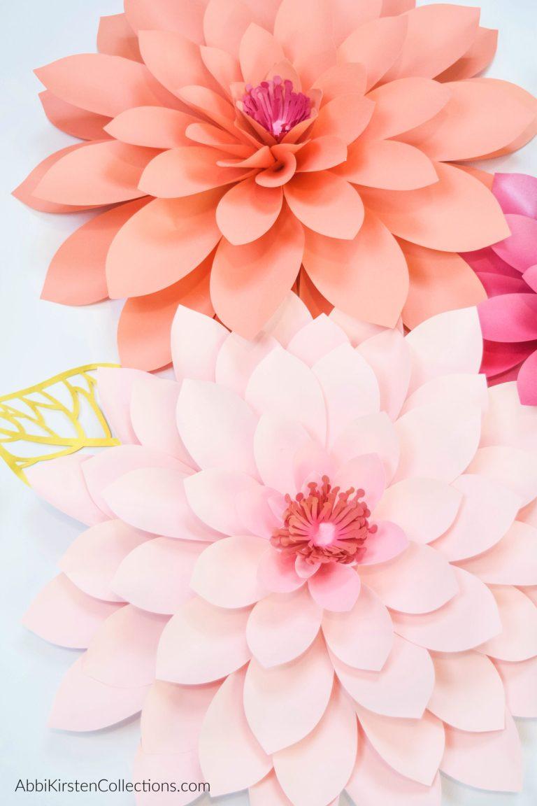 Paper Dahlia Tutorial: How to Make Giant Paper Dahlias