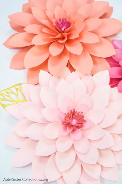 How to make giant paper dahlias: learn how to make adorable and fun paper dahlias in just a few steps with this easy to follow video tutorial!