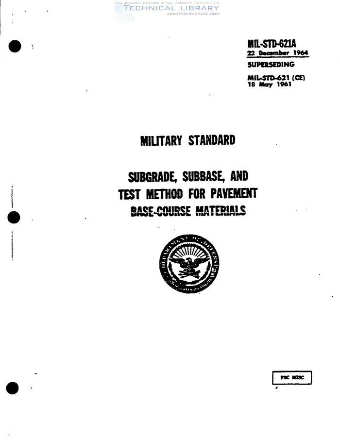MIL-STD-621A : Abbott Aerospace SEZC Ltd.