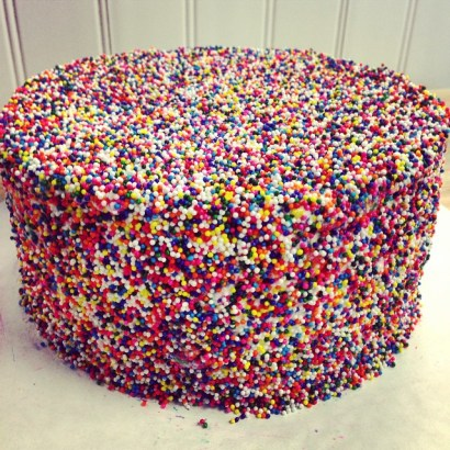 Rainbow Ball Cake
