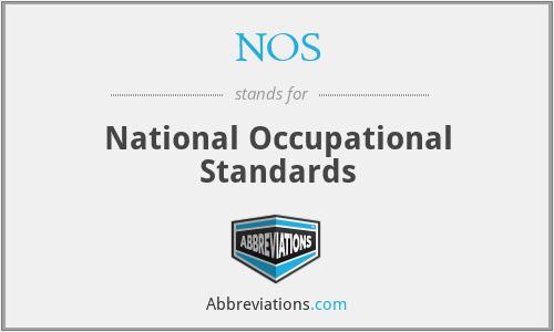 NOS - National Occupational Standards