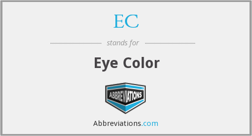 What is the abbreviation for eye color?