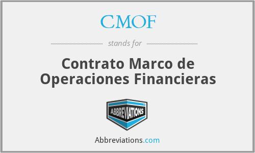 Resultado de imagen de contrato marco de operaciones financieras