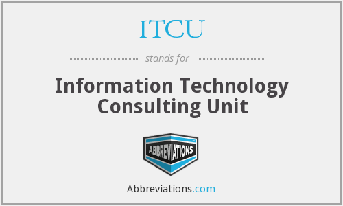 ITCU  Information Technology Consulting Unit