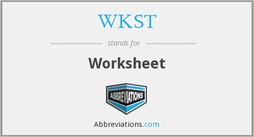 What is the abbreviation for Worksheet?