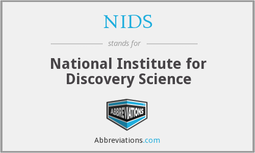 Resultado de imagen para National Institute for Discovery Science