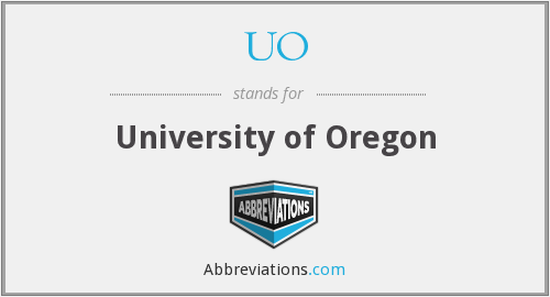 What is the abbreviation for University of Oregon?