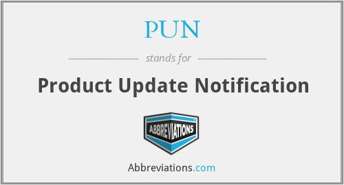 PUN - Product Update Notification