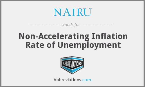 Image result for non-accelerating inflation rate of unemployment