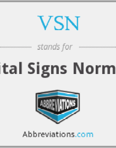 also what is the abbreviation for vital signs normal rh abbreviations