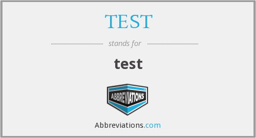 What does diagnostic test stand for?