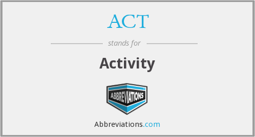 What is the abbreviation for Activity?