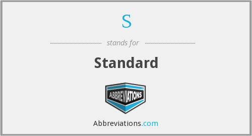 What is the abbreviation for Standard?