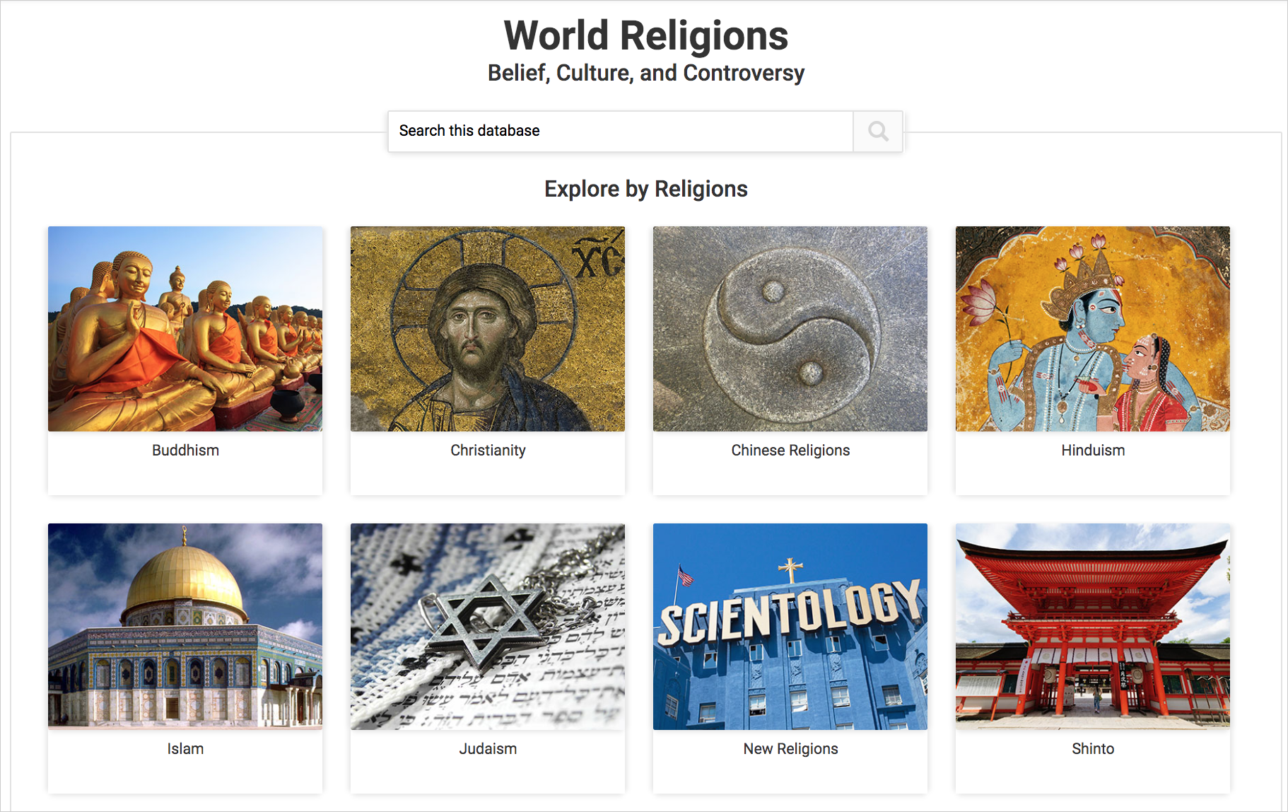World Religions Belief Culture And Controversy