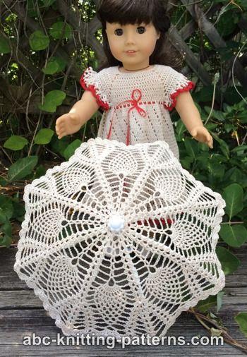 ABC Knitting Patterns American Girl Doll Parasol