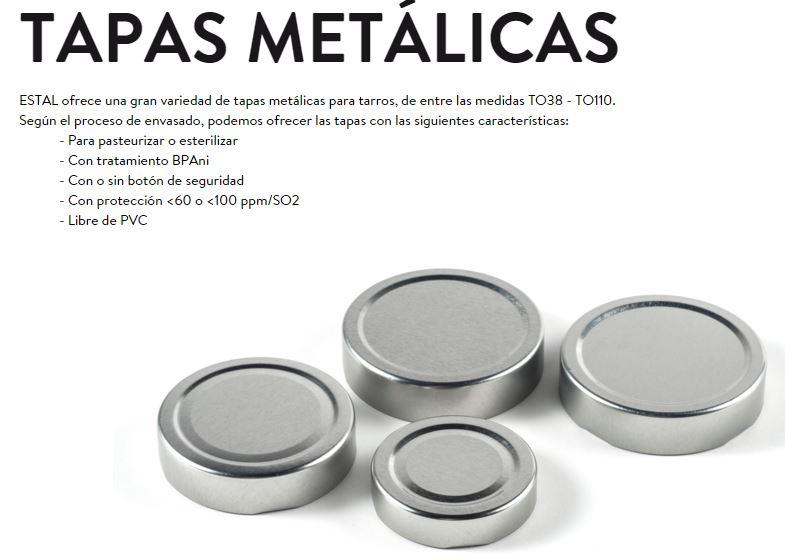 Tapas metlicas  Abc Pack