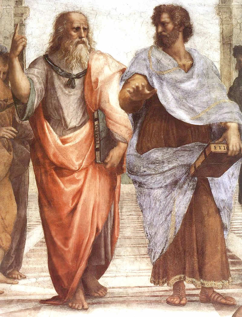 Plato and Aristotle on the fresco The School of Athens