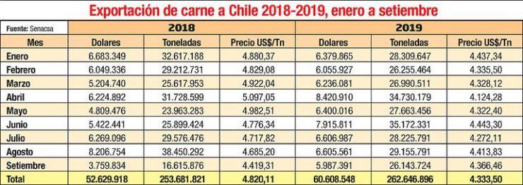 EXPORTACIÓN DE CARNE A CHILE
