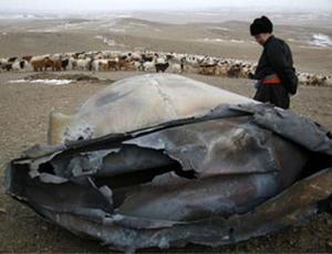 Dos extraños objetos se estrellan sobre Mongolia