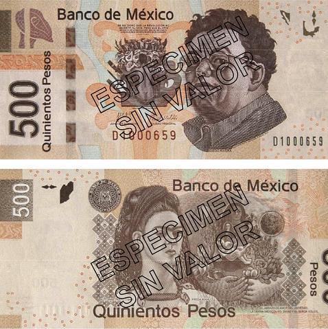Diego y Frida en los billetes de 500  ABCes