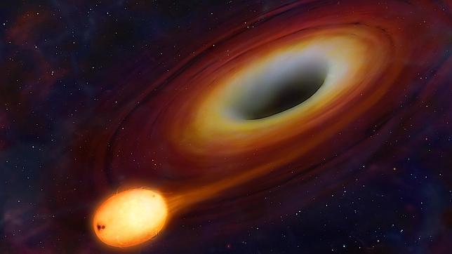 Observan cómo un agujero negro devora una estrella