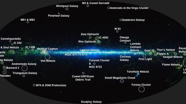 La NASA publica el atlas más completo del Universo