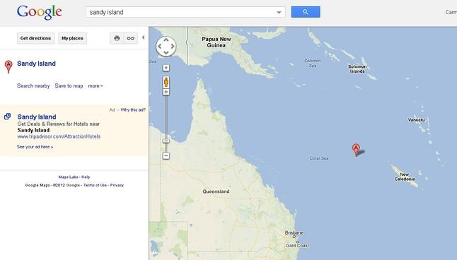 La isla que solo existe en los mapas