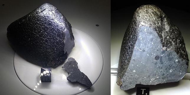 El raro meteorito llegado de Marte
