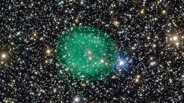Una fantasmal burbuja verde aparece en el espacio