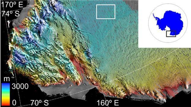 Hallan el cráter más grande jamás visto bajo la Antártida