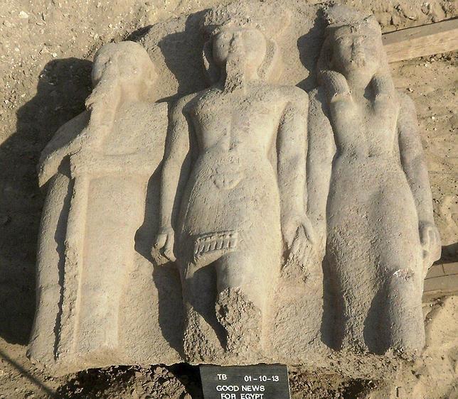 Hallan una estatua de Ramsés II con más de 3.000 años de antigüedad en Egipto