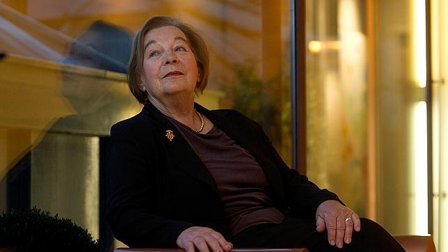 Gerda Horneck en un momento de la entrevista con ABC-ISABEL PERMUY