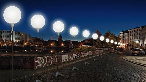 Así iluminarán 8.000 globos el trazado del muro de Berlín