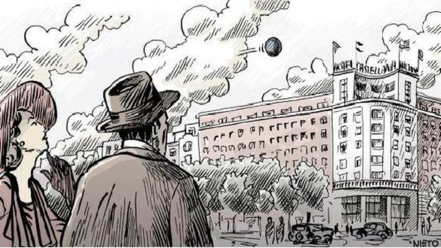 Ilustración del OVNI descrito por los doctores West y Ellis en Madrid en 1955