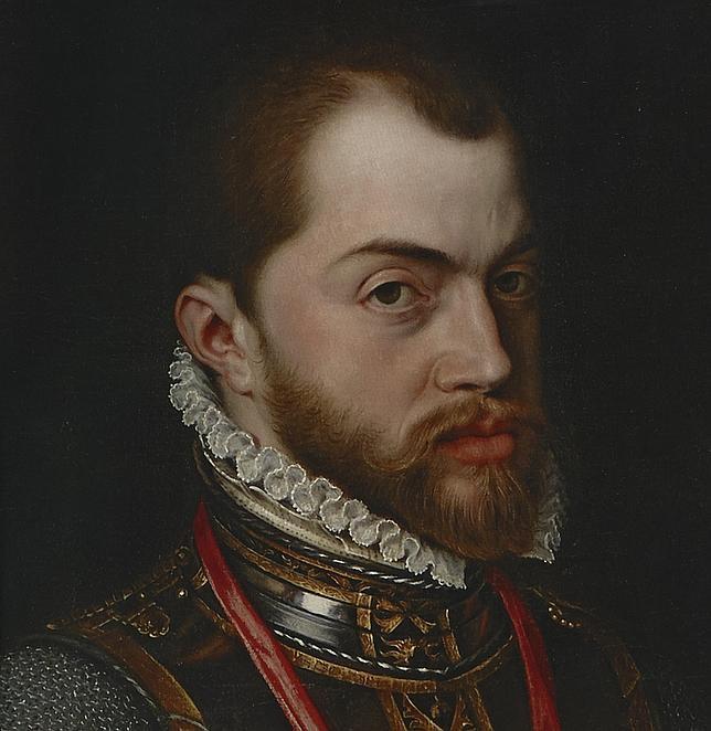 Retrato de Felipe II, obra de Antonio Moro