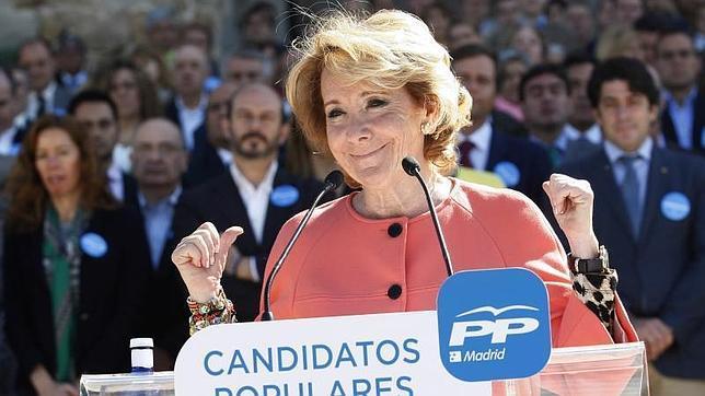 Esperanza Aguirre, durante la presentación de los candidatos del PP a los ayuntamientos de la región