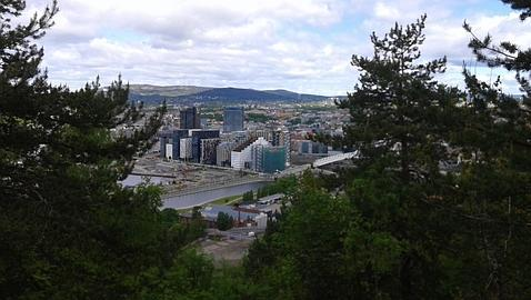 Vista del fiordo de Oslo desde la colina Ekeberg