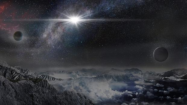 Así se vería la supernova desde un hipotético planeta situado a 10.000 años luz de ella, en su misma galaxia
