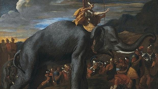 Anibal llevó 37 elefantes a través de los Alpes