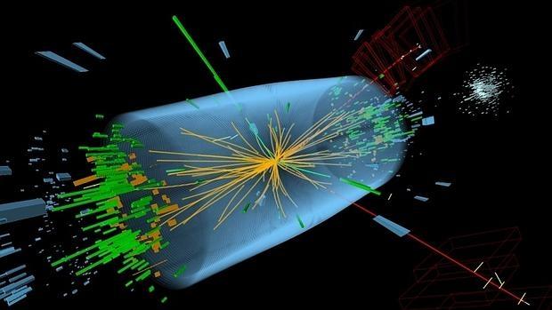 Imagen de archivo de colisiones de partículas en el descubrimiento del bosón de Higgs
