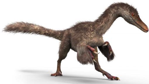 Reconstrucción de la cría de dinosaurio