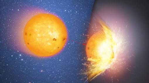 ¿Y si en vez de agujeros negros, en el centro de las galaxias hubiera objetos sólidos muy masivos? Las estrellas chocarían contra ellos