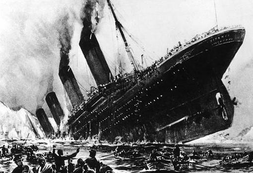 Representación del hundimiento del buque