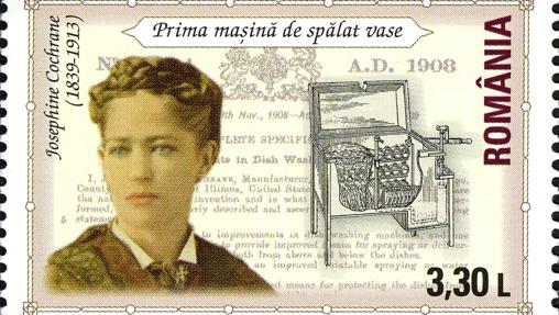 Un sello que recuerda a Josephine Cochrane