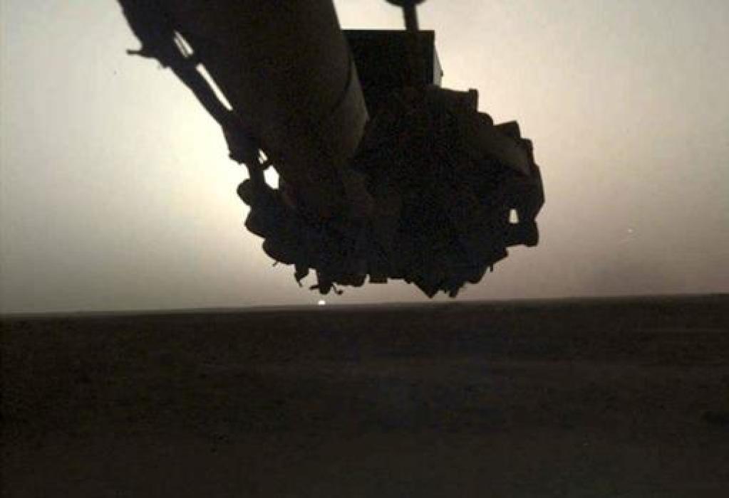 Amanecer en Marte desde la InSight