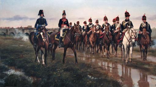 Álava dirigiendo a l Quince de Húsares en Vitoria
