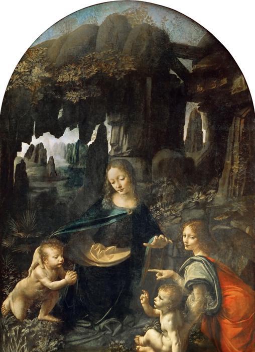 Cuadro La Virgen de las Rocas