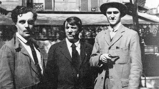 Modigliani, Picasso y André Salmon, en París