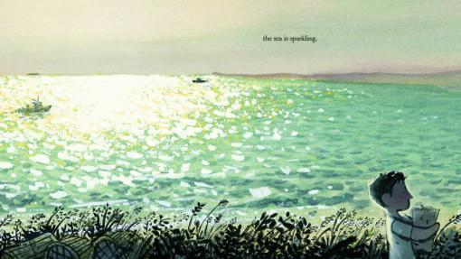 Ilustración de «Town is by the sea»
