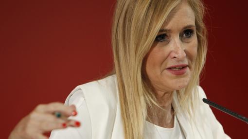 Cristina Cifuentes, presidenta de la Comunidad de Madrid, tras la reunión del Consejo